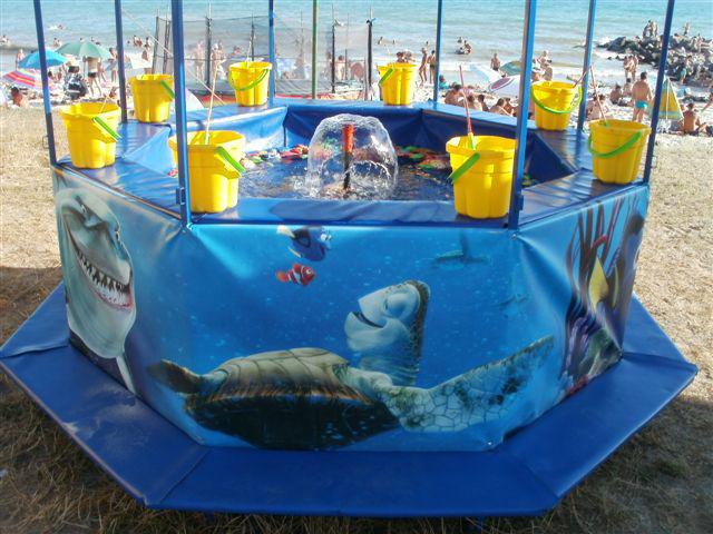 аттракцион рыбалка бассейн